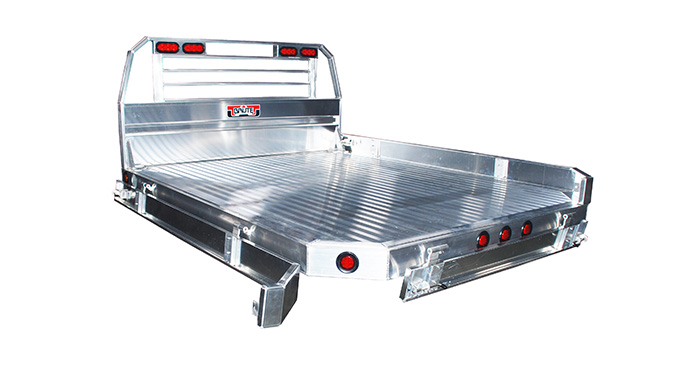 Sides take off drop down aluminum flatbed