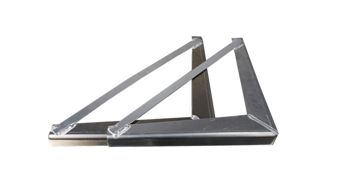 "18"" x 18"" Under Body Bracket .125 thick smooth aluminum (1 pair)"