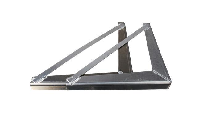 "24"" x 24"" Under Body Bracket .125 thick smooth aluminum (1 pair)"