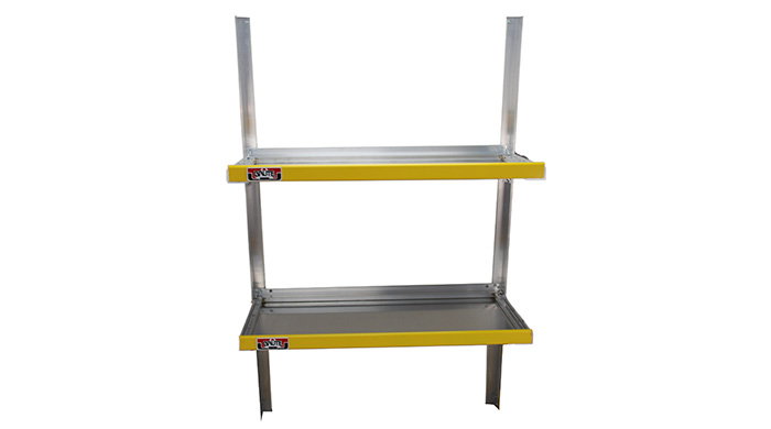 Aluminum folding shelves